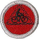Cycling Merit Badge Emblem