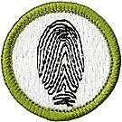Fingerprinting Merit Badge Emblem