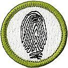 Fingerprinting Merit Badge Emblem
