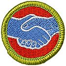 American Labor Merit Badge Emblem