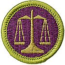 Law Merit Badge Emblem