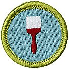 Painting Merit Badge Emblem