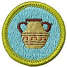 Pottery Merit Badge Emblem
