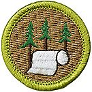 Pulp & Paper Merit Badge Emblem