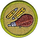 Rifle Shooting Merit Badge Emblem