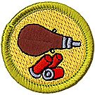 Shotgun Shooting Merit Badge Emblem