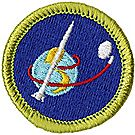 Space Exploration Merit Badge Emblem