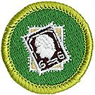 Stamp Collecting Merit Badge Emblem
