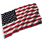 Nylon American Flag (With Fringe)