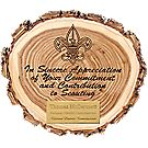Custom - Elm Wood Slice Appreciation Plaque