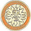 Tiger National Summer Time Award Pin