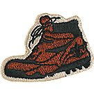 Embroidered Hiking Boot Pin