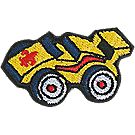 Embroidered Pinewood Derby® Car Pin