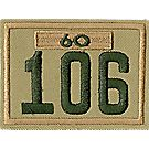 Three-digit Custom Unit Numeral with Veteran Bar