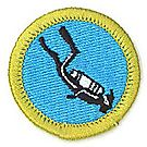 Scuba Diving Merit Badge Emblem