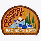 National Camping 250 Nights & Days Emblem