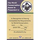World Conservation Pocket Certificate
