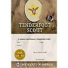 Tenderfoot Pocket Certificate, Single