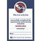 Scuba Pocket Certificate