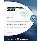 Senior Patrol Leader Certificate