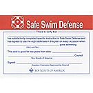 Safe Swim Defense Certificates