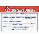 Safe Swim Defense Certificates