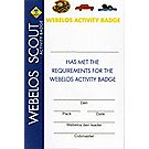 Webelos Activity Pocket Certificate, Single