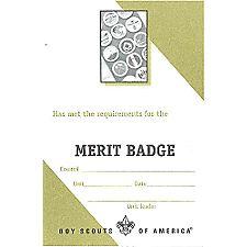 Boy Scout™ Merit Badge Pocket Certificate, Single