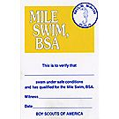 Boy Scout™ Mile Swim Pocket Certificate, Single