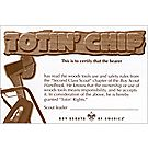 Totin' Chip Pocket Certificate  / Single