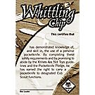 Cub Scout Whittling Chip Pocket Certificate, Single