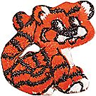 Tiger Embroidered Applique