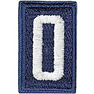 Sea Scout Numerals, White on Blue