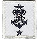 Sea Scout Insignia, Mate or Ship Committee Member - White