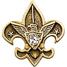 Universal Emblem Pin - 10K Gold with 3pt Diamond