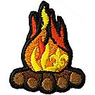 Embroidered Campfire Pin