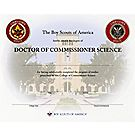 Commissioner Doctor Degree Certificate