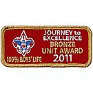 2011 Journey to Excellence 100% Boys' Life Unit Bronze Award