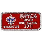2011 Journey to Excellence 100% Boys' Life Unit Silver Award