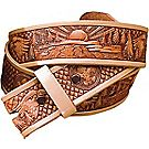 Fleur-de-lis Leather Belt