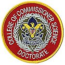 Doctorate of Commissioner Science Emblem