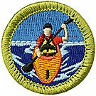 Kayaking Merit Badge Emblem