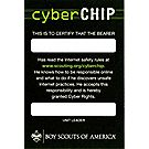 Boy Scout™ Cyber Chip Pocket Certificate