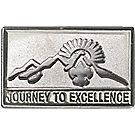 Journey to Excellence Silver Pin
