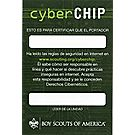 Boy Scout™ Cyber Chip Pocket Certificate - Spanish