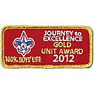 2012 Journey to Excellence 100% Boys' Life Unit Gold Award