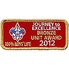 2012 Journey to Excellence 100% Boys' Life Unit Bronze Award