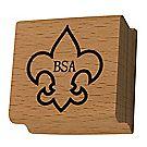 Boy Scout™ Fleur De Lis Rubber Stamp