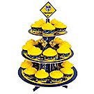 Blue & Gold Cupcake Stand