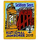 Official 2013 Jamboree® Subcamp Embroidered Emblem - Seldom Seen F1